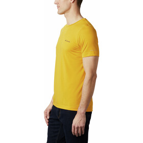 Columbia Maxtrail Logo Short Sleeve Tee Men bright gold